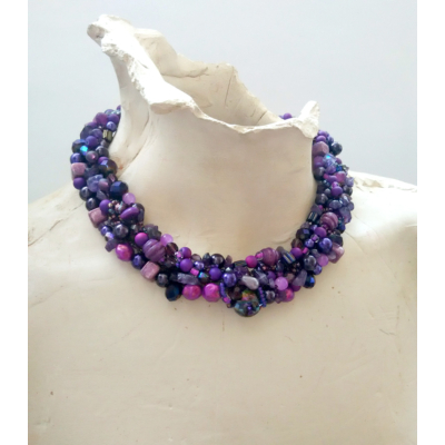 PURPLE BERRIES - LILA GYÖNÖS NYAKÉK/PURPLE BEADED NECKLACE